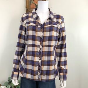 🦋 Columbia Sportswear Large Plaid Button Down